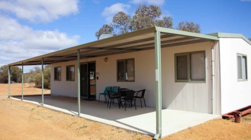 Outside view of Cabin C at Beacon Caravan Park