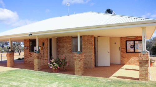 Outside view of Beacon Caravan Park office