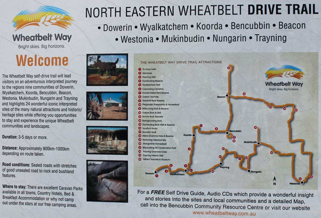 sign at North Eastern Wheatbelt information bay