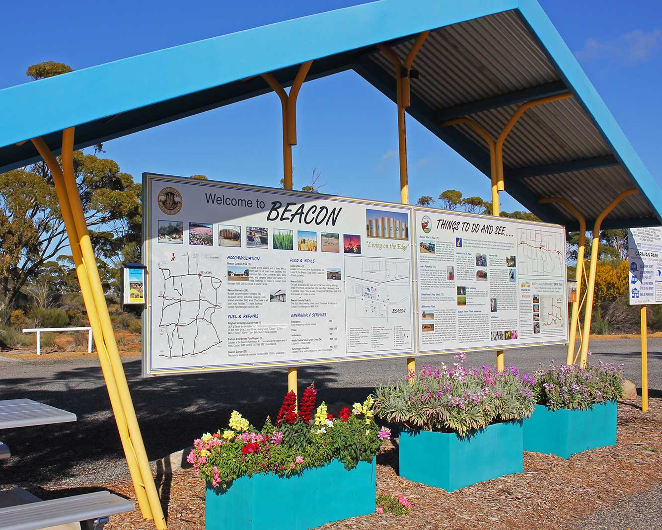 view of covered information bay in Beacon Western Australia