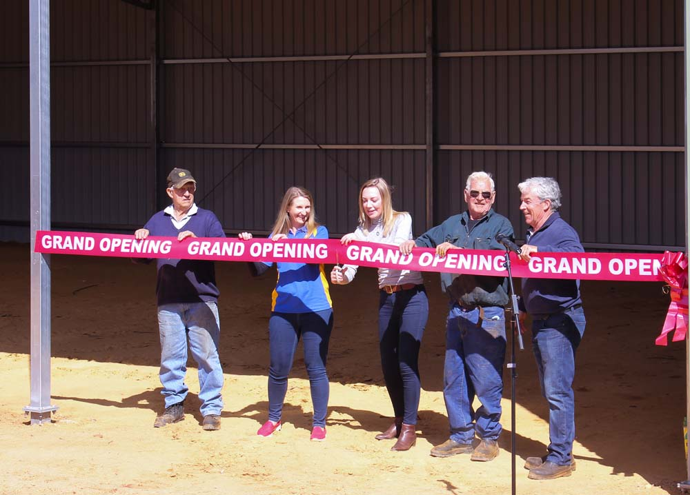 Mens Shed Extension opening with ribbon cutting ceremony
