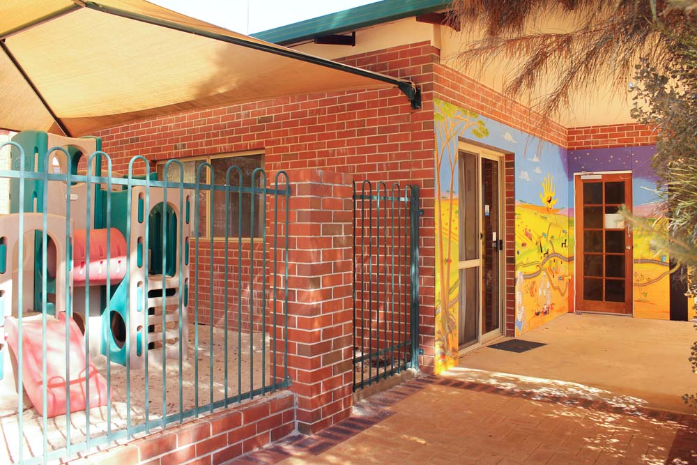 Beacon Playgroup playgrounds and entrance from outside