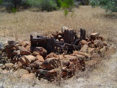 remains of the Tampu Well near Beacon in Western Australia