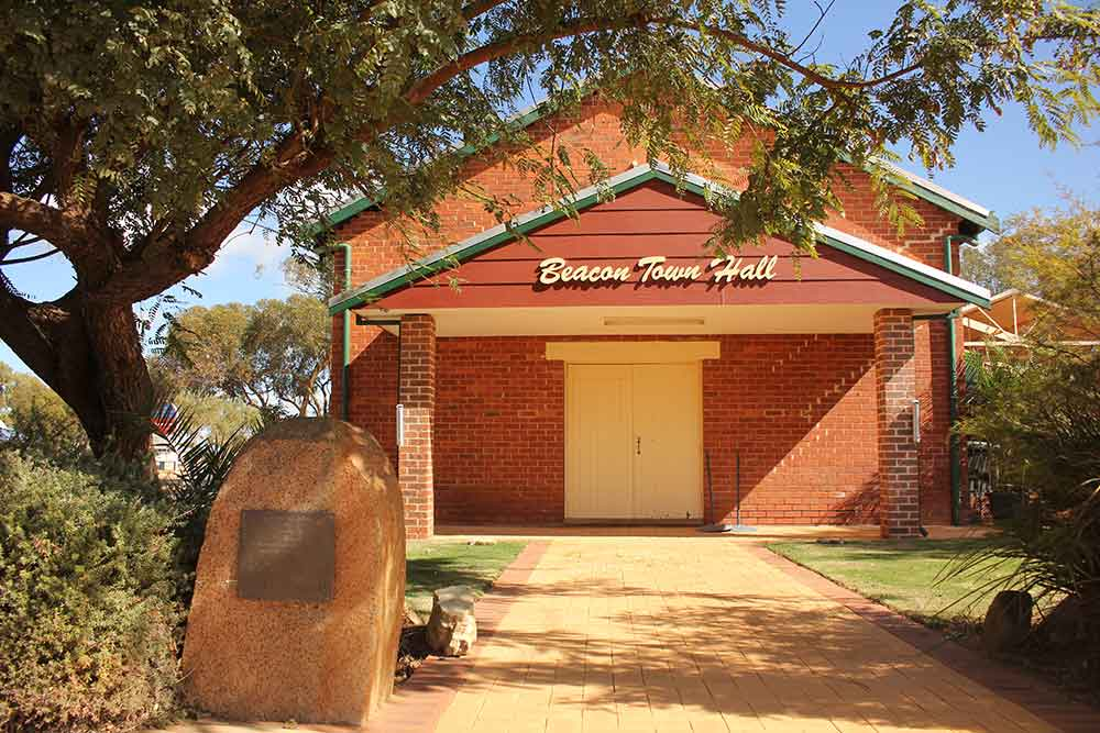 View of entrance to the Beacon Town Hall