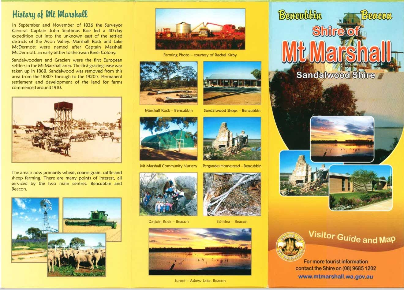 image of tourist brochure for Shire of Mt. Marshall