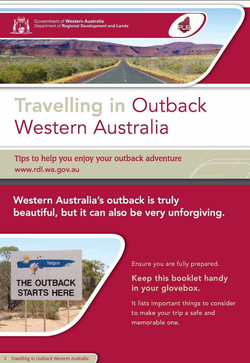 Travelling Tips publication from the Deparment of Regional Development and Lands in Western Australia